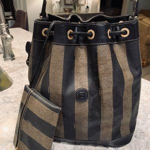 Fendi Bucket Hobo Bag and Makeup Pouch